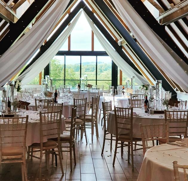Reception space at Wood Farm at Everdon