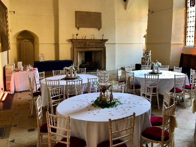 The lovely reception space at Abington Park Museum