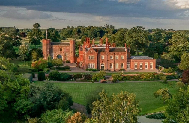 The beautiful exterior at Hodsock Priory