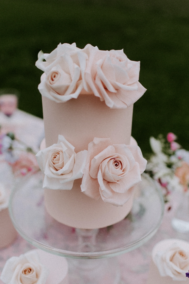 Beautiful wedding cake created by Grace Emily Cakes