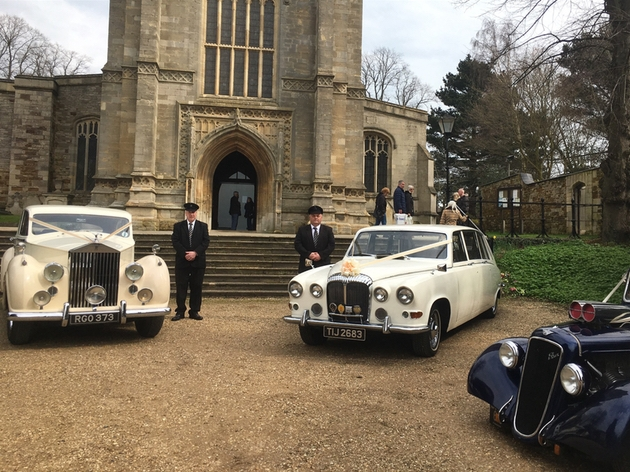 Bridal Carriages cars at a local wedding