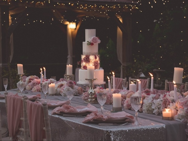 Beautiful venue space decorated by Decoris Weddings