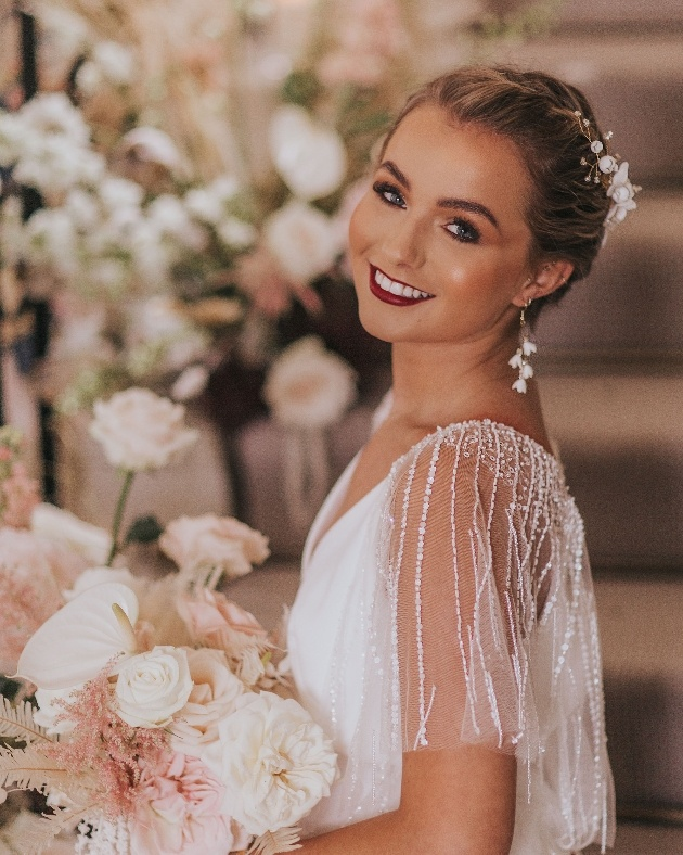 A bride ready for her wedding day