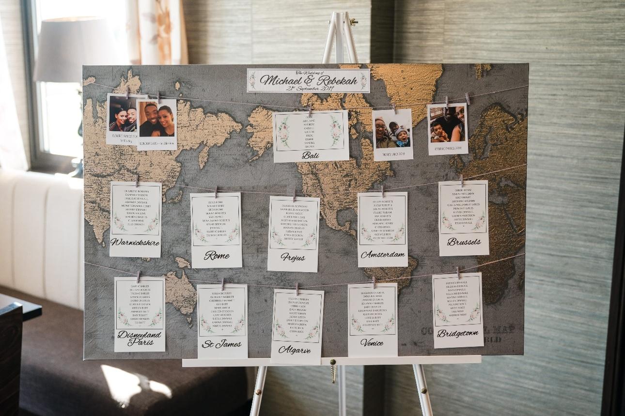 World map tableplan