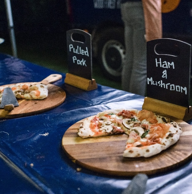 Stone-baked pizzas
