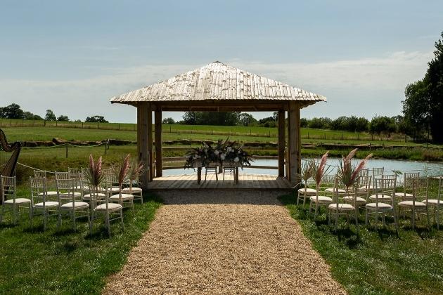 Ceremony space at Long Furlong Farm