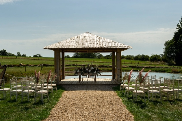 The stunning ceremony space at Long Furlong Farm
