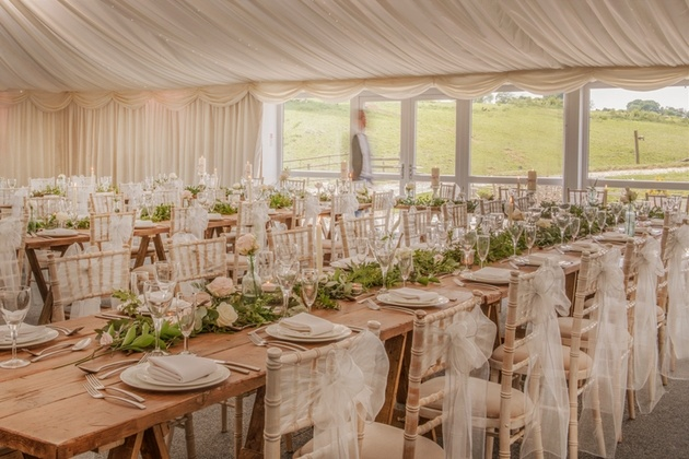 The beautiful reception space at The Granary at Falsely